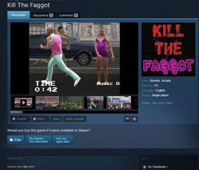 kill-the-faggot-game-steam-page